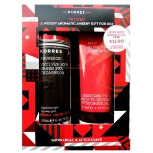 Korres Set Vetiver Root Aftershave Balm & Showergel