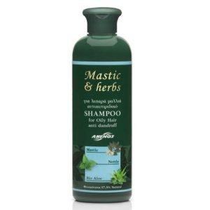 Anemos Mastic & Herbs Shampoo For Oily Hair Anti Dandruff 300ml