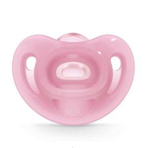 Nuk Sensitive Πιπίλα Σιλικόνης Pink 6-18m 1τμχ 10.736.386